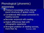 phonological phonemic awareness
