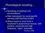 phonological recoding