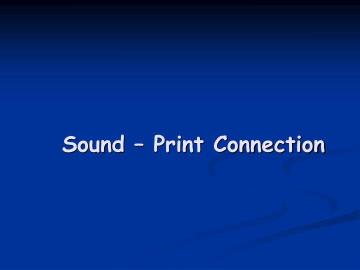sound print connection n.