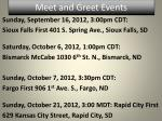meet and greet events