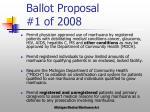 ballot proposal 1 of 2008