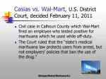 casias vs wal mart u s district court decided february 11 2011