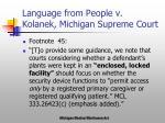 language from people v kolanek michigan supreme court
