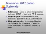 november 2012 ballot statewide
