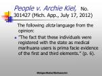 people v archie kiel no 301427 mich app july 17 2012