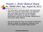 people v brian bebout reed no 296686 mich app august 30 2011