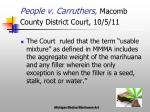 people v carruthers macomb county district court 10 5 11