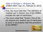 state of michigan v mcqueen no 143824 mich sup ct february 8 20131