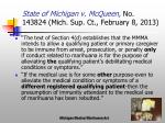 state of michigan v mcqueen no 143824 mich sup ct february 8 20133