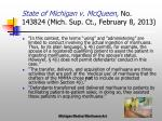 state of michigan v mcqueen no 143824 mich sup ct february 8 20136