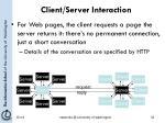 client server interaction