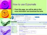 how to use e journals6