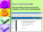 how to use e journals8