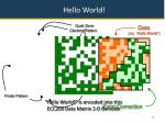 hello world is encoded into this ecc200 data matrix 2 d barcode