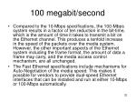 100 megabit second