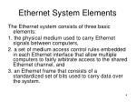 ethernet system elements