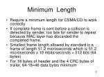 minimum length