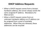 dhcp address requests