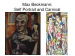 max beckmann self portrait and carnival