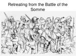 retreating from the battle of the somme