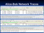 alice bob network traces