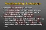 renal handling of potassium1