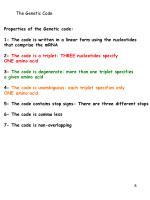 the genetic code1
