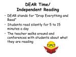 dear time independent reading