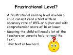 frustrational level