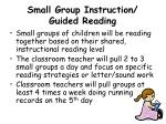 small group instruction guided reading
