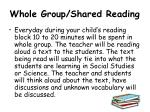 whole group shared reading