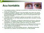 acu kontakts