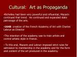 cultural art as propaganda