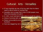 cultural arts versailles