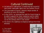 cultural continued