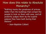 how does this relate to absolute monarchy