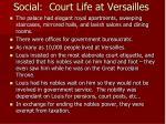 social court life at versailles