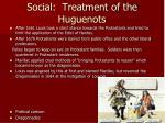 social treatment of the huguenots