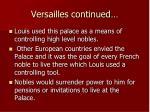 versailles continued