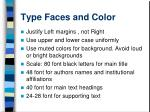 type faces and color