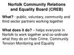 norfolk community relations and equality board creb