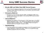 army gme success stories