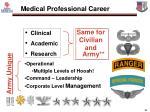 medical professional career tracks