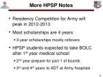 more hpsp notes