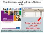 what does sexual assault look like in michigan today