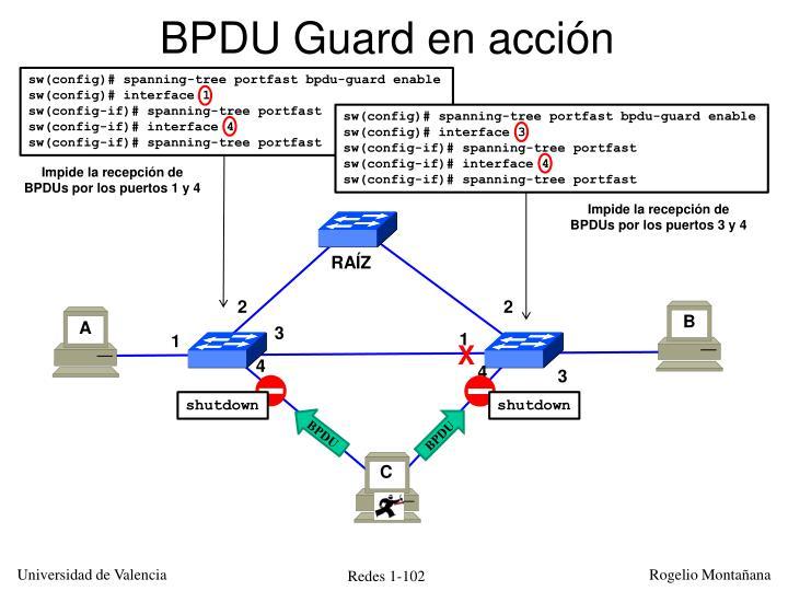 BPDU Guard en acción