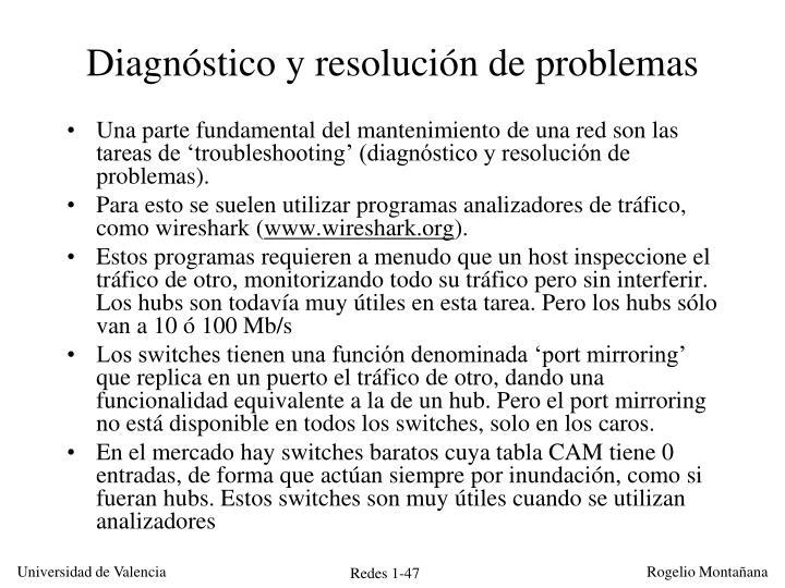 Diagnóstico y resolución de problemas