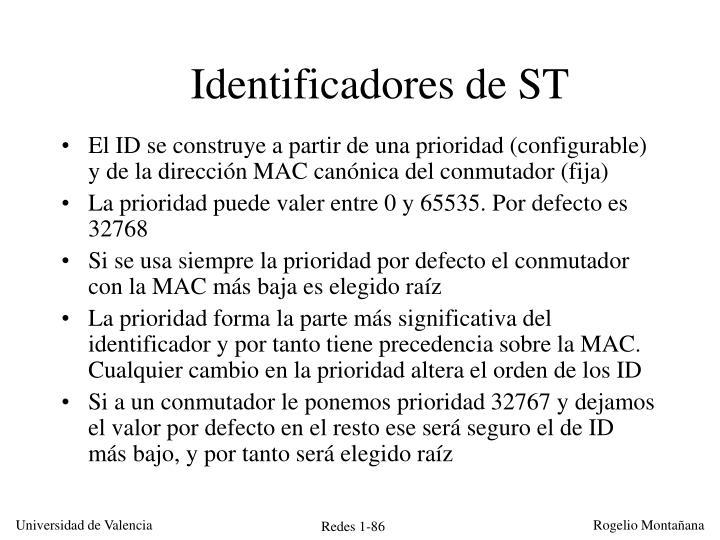 Identificadores de ST