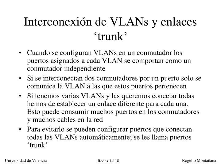 Interconexión de VLANs y enlaces 'trunk'