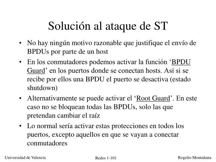 Solución al ataque de ST
